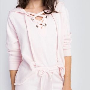 Wildfox Lace Front Hoodie
